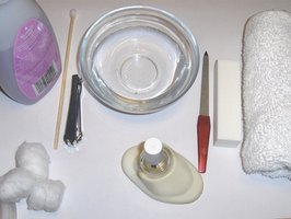 Tools used for giving manicures and pedicures