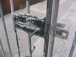 A 178 Master Lock can secure gates.