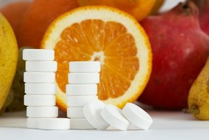 Vitamin C comes from food, especially citrus, and/or supplements.