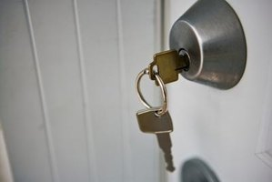 If the doorknob or the key sticks, chances are good that the lock requires a good cleaning.