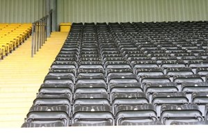 Steeper stadium seating can improve spectator views.
