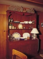 Change the look of outdated china cabinets with paint.