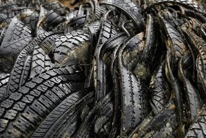 Rubber can be shredded into small pieces for mulch.