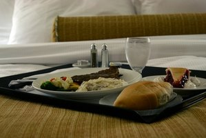 Have a tray of food conveniently delivered to your hotel room.