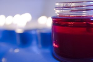 It is not uncommon for wet spots to form between candle wax and the glass jars that hold them.