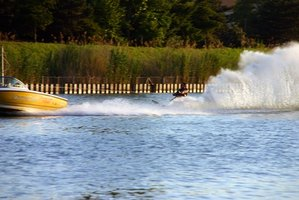 Slalom boats produce smaller wakes than wakeboard boats.
