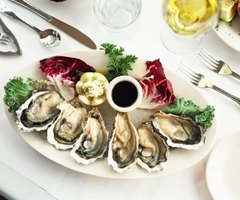 Oysters are usually served in the shell.
