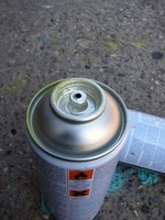 Spray paint made especially for metal surfaces reduces problems with application and adhesion.