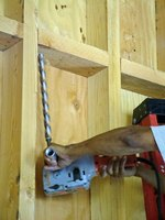 Properly installing Romex wire reduces potential fire hazard.