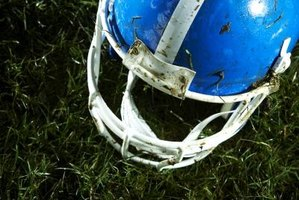 Clean a Riddell helmet with warm water and mild detergent.