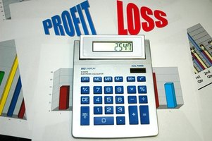Business profits and losses are reflected on annual taxes.