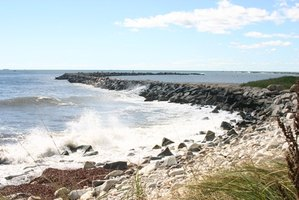 Rocky shorelines are part of Connecticut's topography.