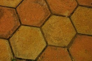 Paint Terra-cotta Floor Tiles