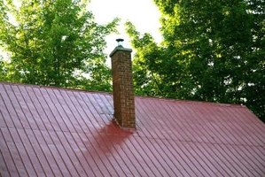 Flashing helps protect the joints where a chimney and roof connect.