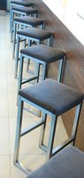 Wooden bar stools are portable.