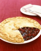 Sour cherries are better in pies than sweet cherries.