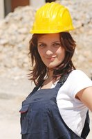 Hard hats are one way to reduce the risk of injury in construction-related jobs.
