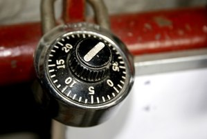 Combination locks are used commonly on utility cabinets and lockers.