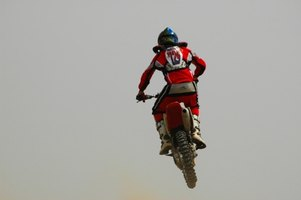 While not suited for racing, the Suzuki JR50 is capable of performing jumps.