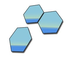 Hexagons have six sides.