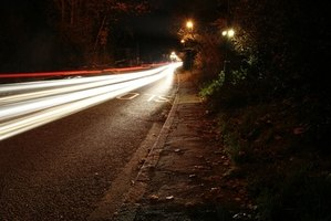 A darkening mirror is useful when night driving to reduce glare.