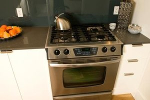 Stainless steel and black appliances provide a sleek, modern look.