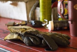 Wear heavy leather work gloves to protect your hands from the radiator's thin, sharp fins.