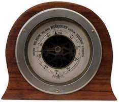 A barometer reading does not indicate today's weather but coming conditions.