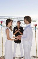 A small unique wedding on the beach