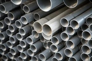 PVC pipe is used to install household sewer lines.