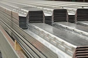 The metal sheets may have squared-off or rounded corrugations.