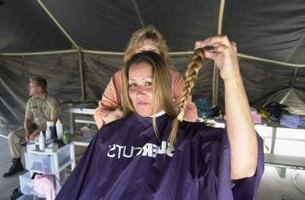 Hair can be donated to make wigs for children suffering from hair loss.