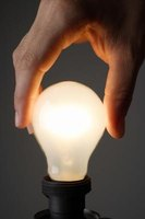 Simple circuits show how electricity can be conducted to illuminate a light bulb.