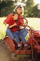 Farmall tractors increased in size and power during the 1950s.