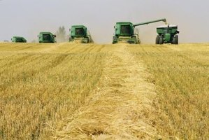 Agricultural machinery reduces time and labor expenditures from seed to harvest.