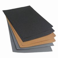 Several different grades of sandpaper are necessary for the sanding process on a car.