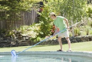 Regular pool maintenance helps keep the water clean and clear.