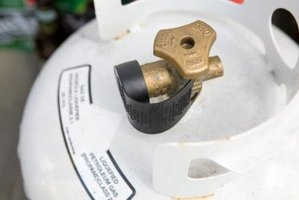 The valve or opening orafice of a propane tank can sometimes promote frost forming around the tank.