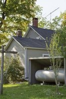 It's a good idea to have a propane tank that's large enough to last all winter.
