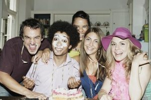 Friends and fun are key to a sucessful birthday party for a 23-year-old man