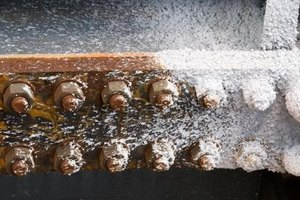 Rust and Corrosion on a riveted iron bar