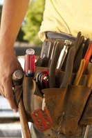 Common carpentry tools can be carried for convenience in a tool belt.