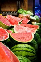 Watermelons can be used to make a variety of interesting centerpieces.