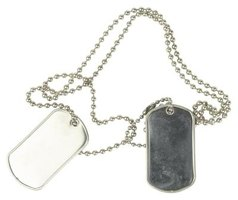 Unstamped dog tags are available both online and in military surplus stores.