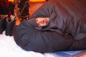 Similiar to this sleeping bag, Army sleeping bags have a drawstring around the top opening.