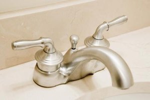 Replace a dated two-handle bathroom faucet.