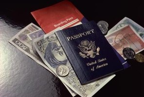 Destroy an old passport to prevent fraud.