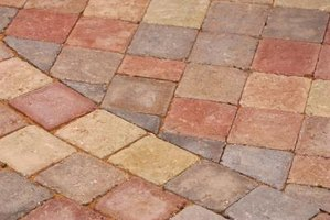Used curved pavers to create intricate patterns on a surface.