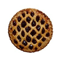 A blueberry pie is low in naturally occuring pectin.