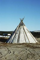 Teepees were typical dwellings of the Great Plains tribes.